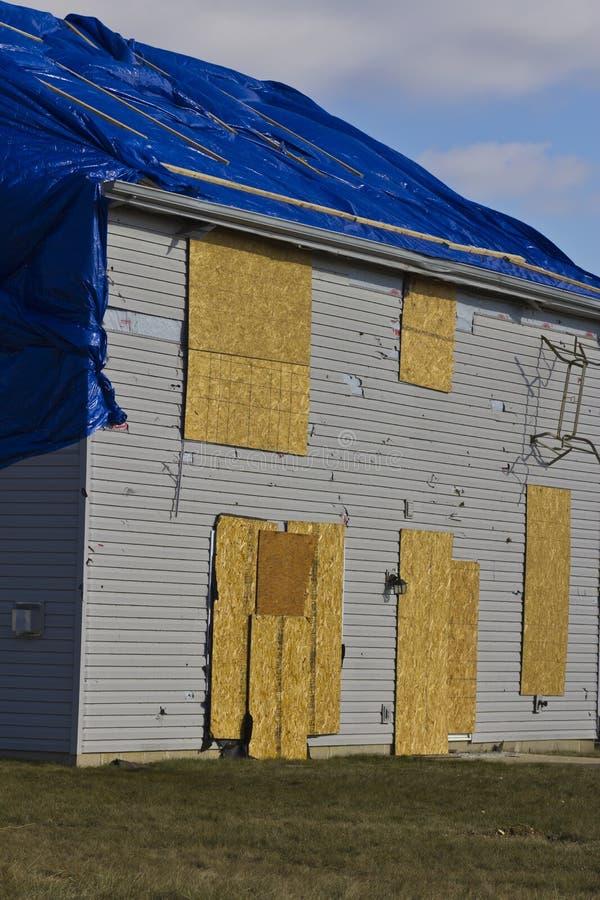 Schade I van het tornadoonweer - Catastrofale Windschade van een Tornado stock foto