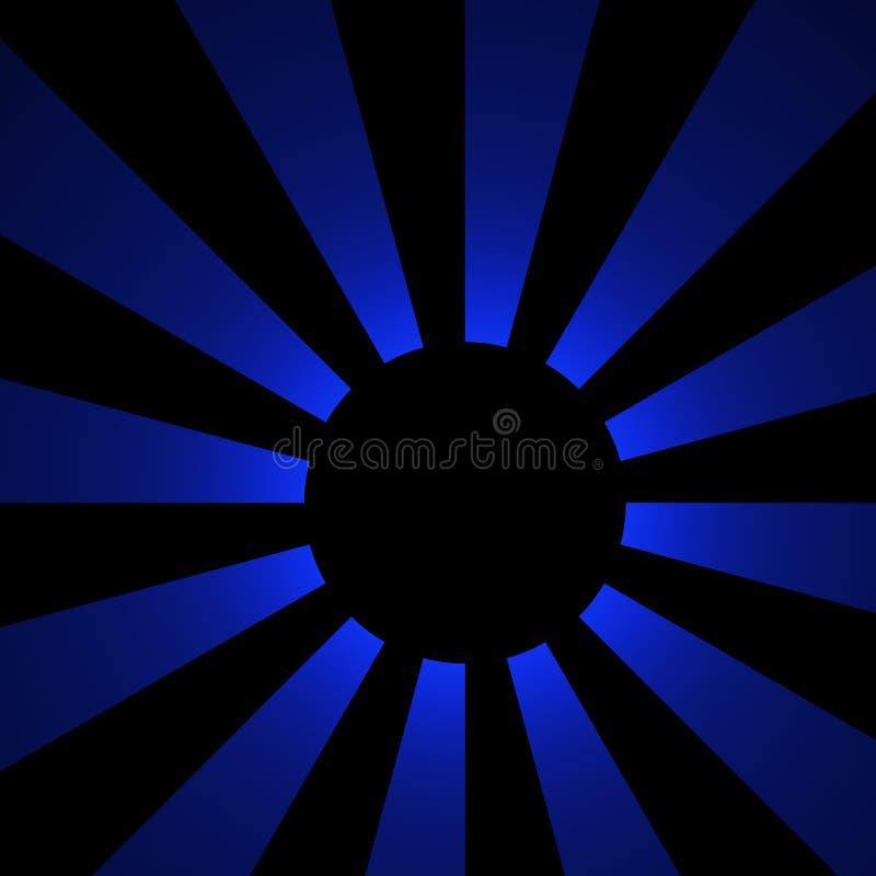 Schaduw van de Blauwe Maan | Fractal Art. royalty-vrije stock afbeelding