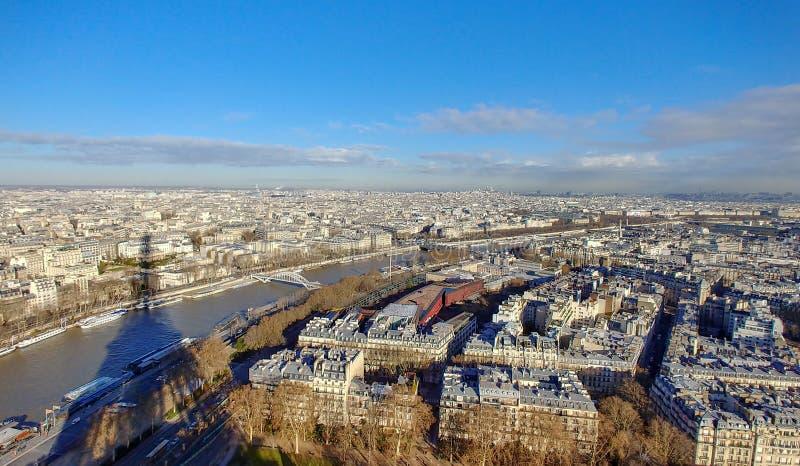 Schaduw van de Toren van Eiffel stock afbeelding