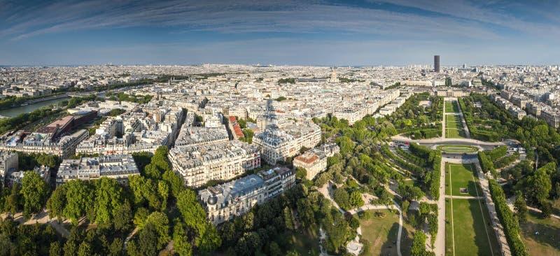 Schaduw van de Toren van Eiffel, Parijs royalty-vrije stock foto