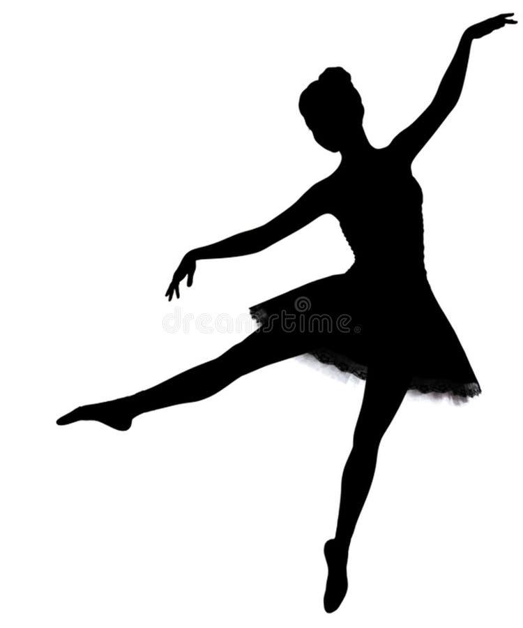 Schaduw van een meisje het dansen ballet royalty-vrije stock foto