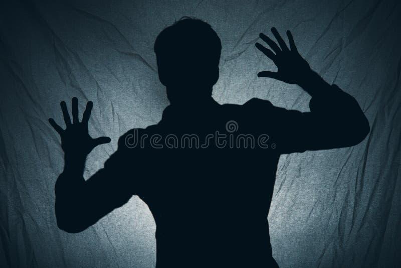 Schaduw van een mens stock afbeelding
