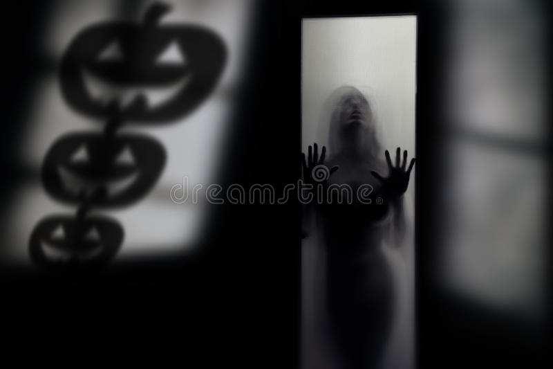 Schaduw van Halloween-pompoen royalty-vrije stock fotografie