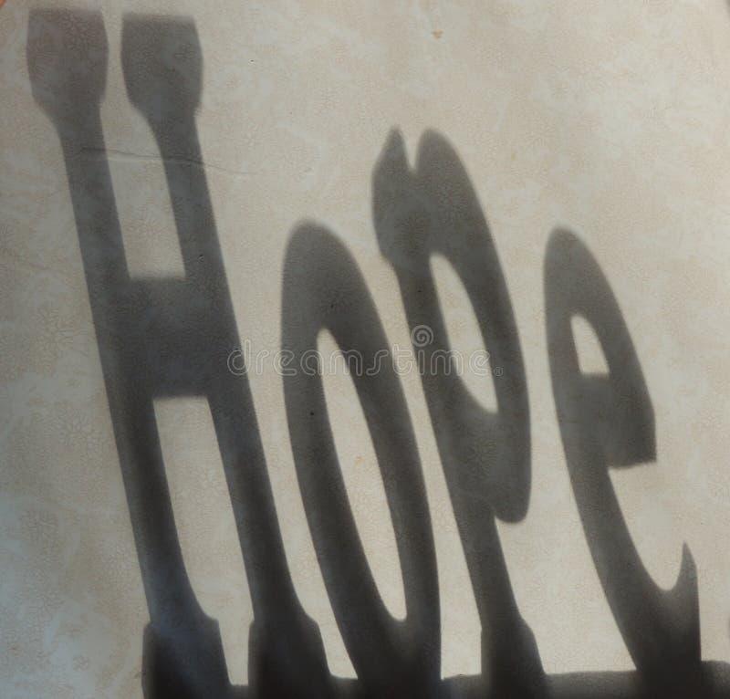 Schaduw van Hoop stock afbeelding