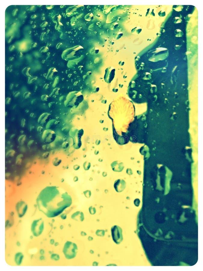 Schaduw van regen stock fotografie