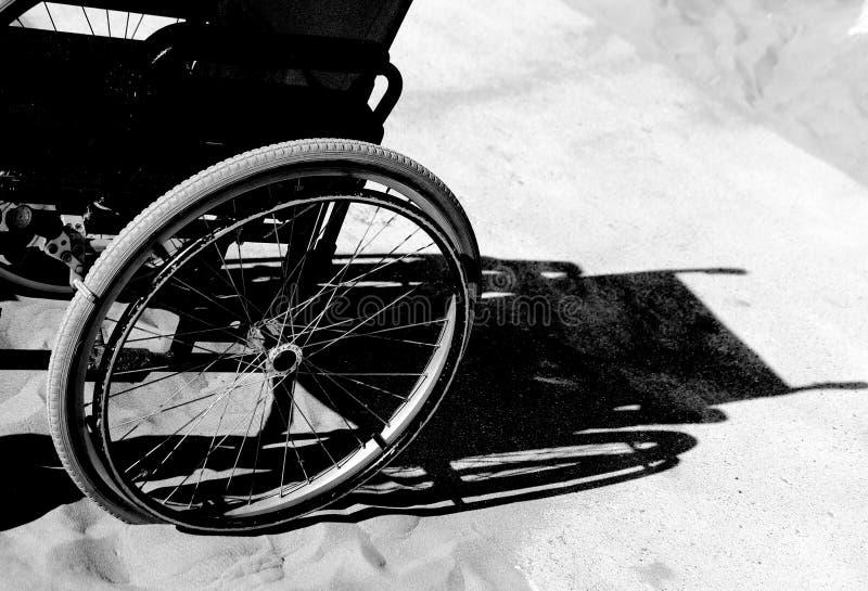 Schaduw van rolstoel stock afbeelding