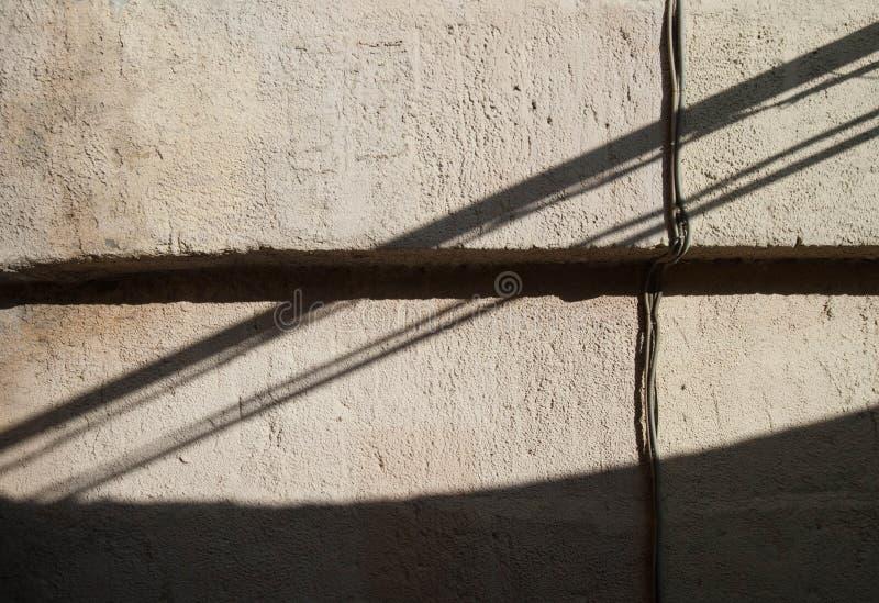 Schaduwen op een vierkant stock afbeeldingen