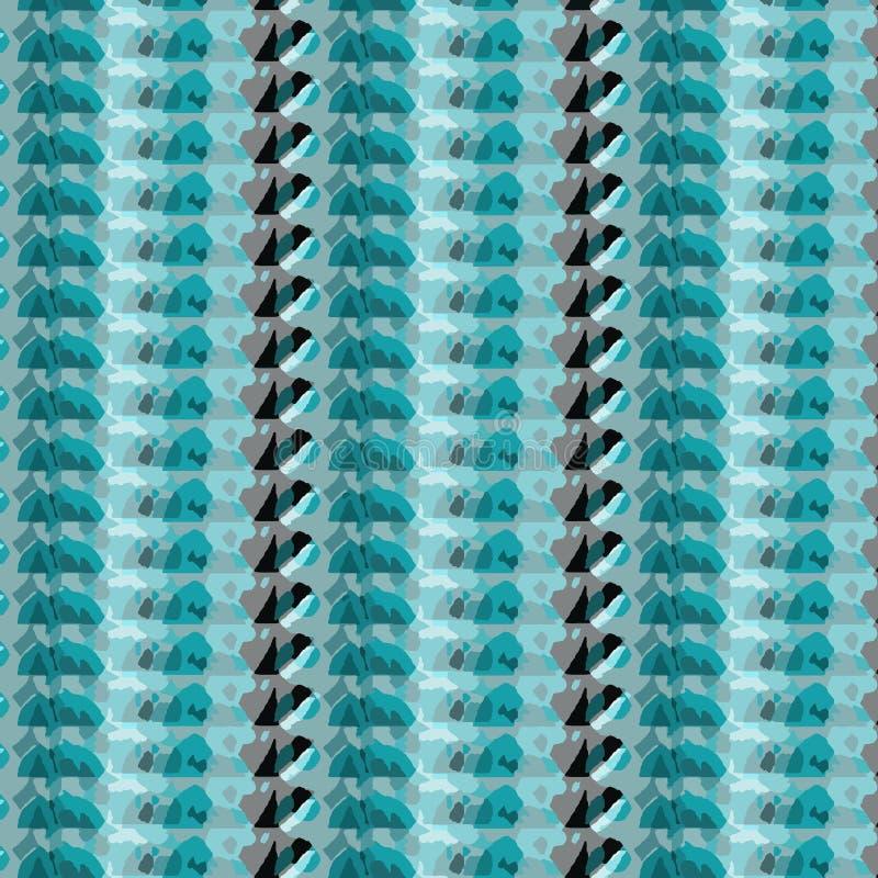 Schaduwen van Blauw en Zwart kleurenpatroon stock foto's