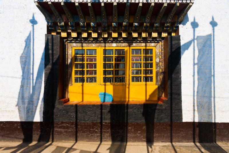 Het Klooster Pelling Sikkim van Pemayagtse van de Vlaggen van het gebed stock afbeeldingen