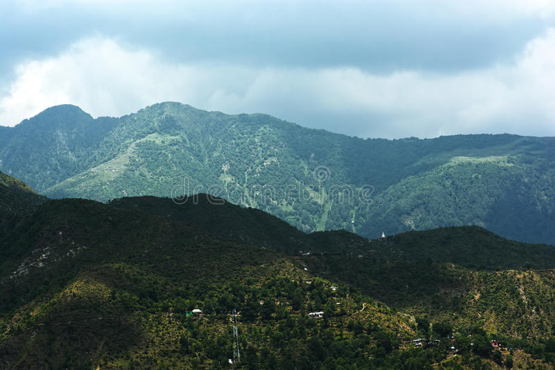 Schaduwen van Himalayagebergte stock foto's