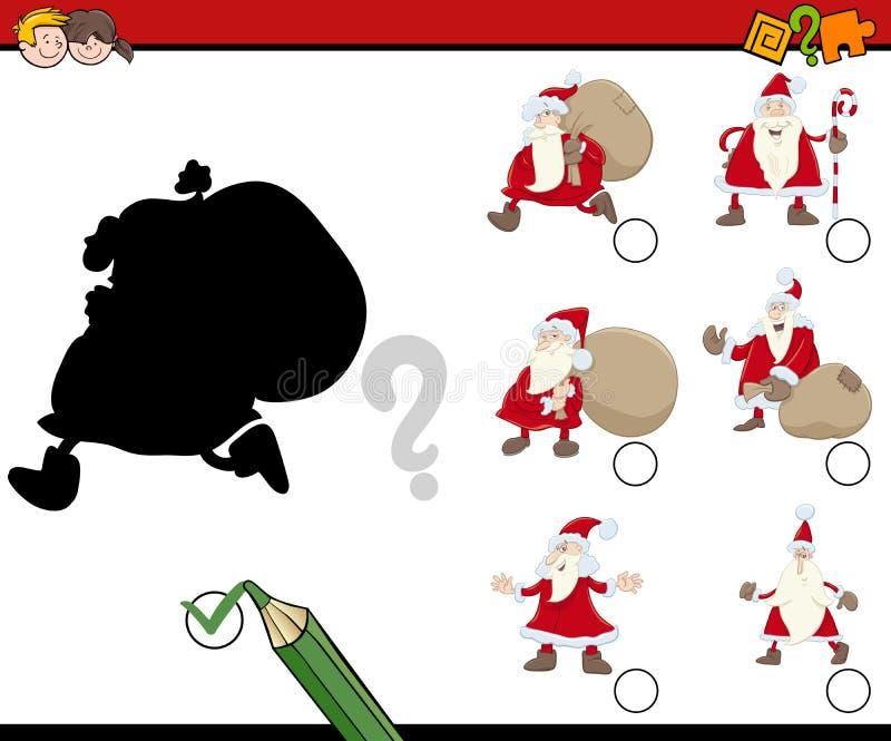 Schaduwenspel met santa stock illustratie