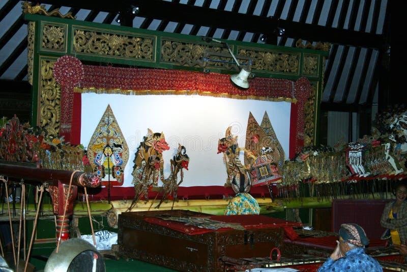 Schaduwentheater stock afbeelding