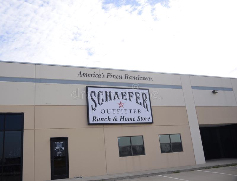 Schaefer-Ausstatter Ranch und Ausgangsspeicher, Fort Worth, Texas stockbilder