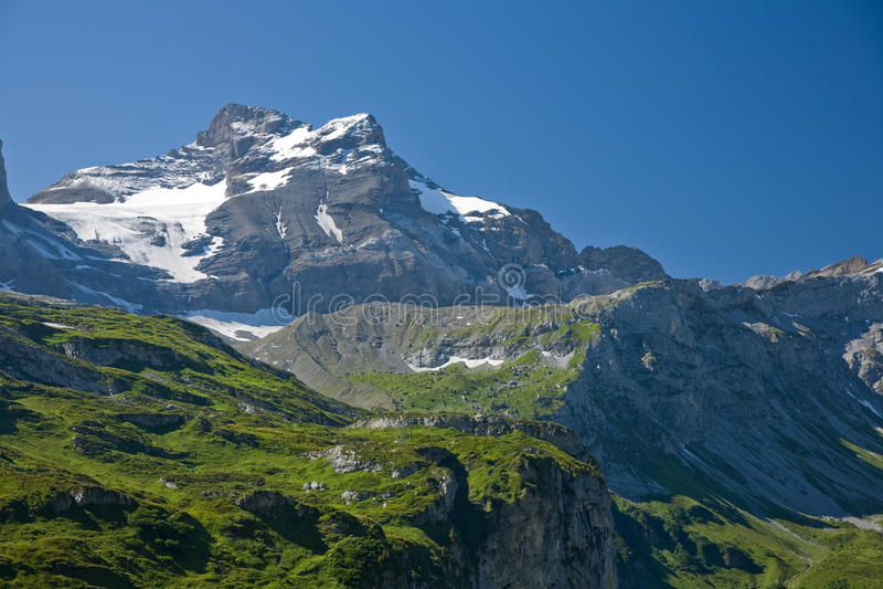 Schaerhorn. From the Klausen Pass in summer stock photo