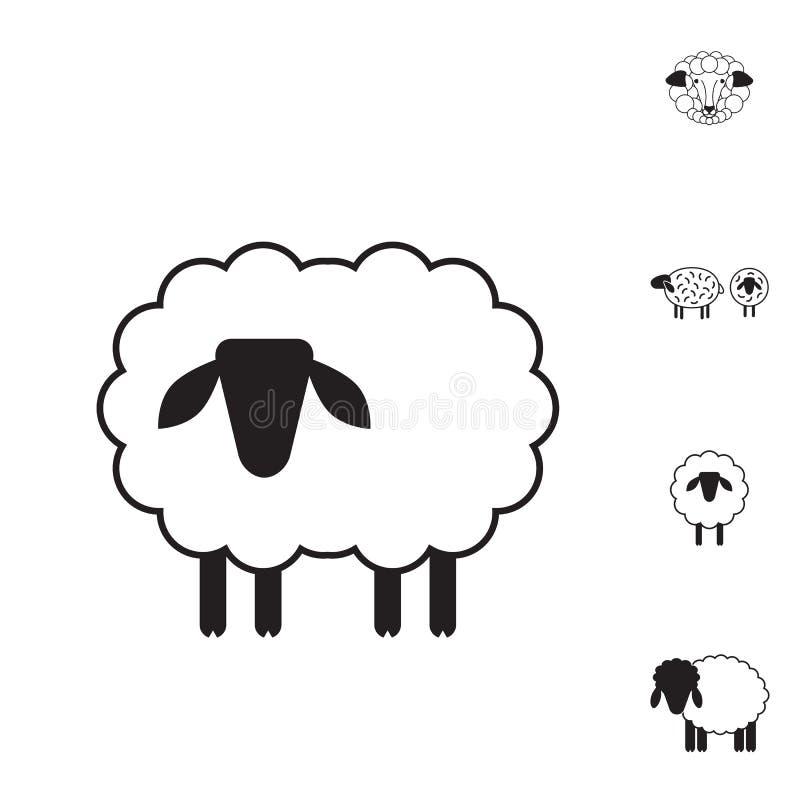 Schaf- oder RAM-Ikone, Logo, Schablone, Piktogramm vektor abbildung