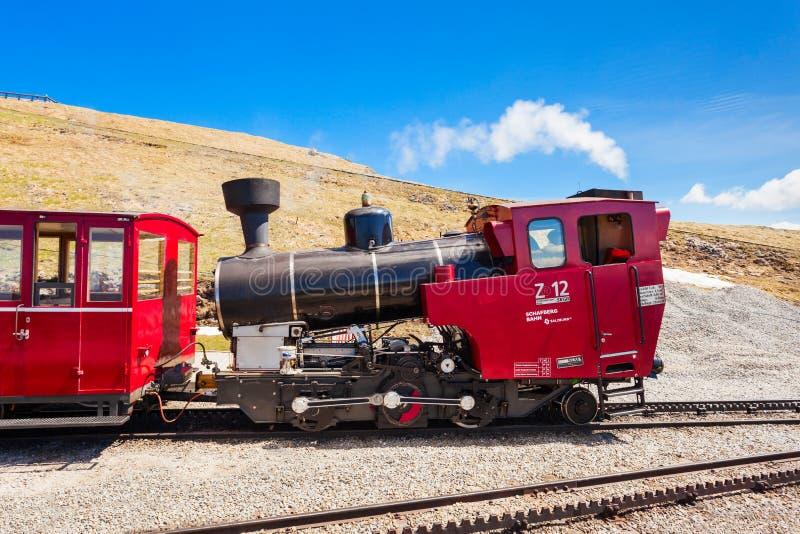 Schafberg铁路,圣沃尔夫冈 库存照片