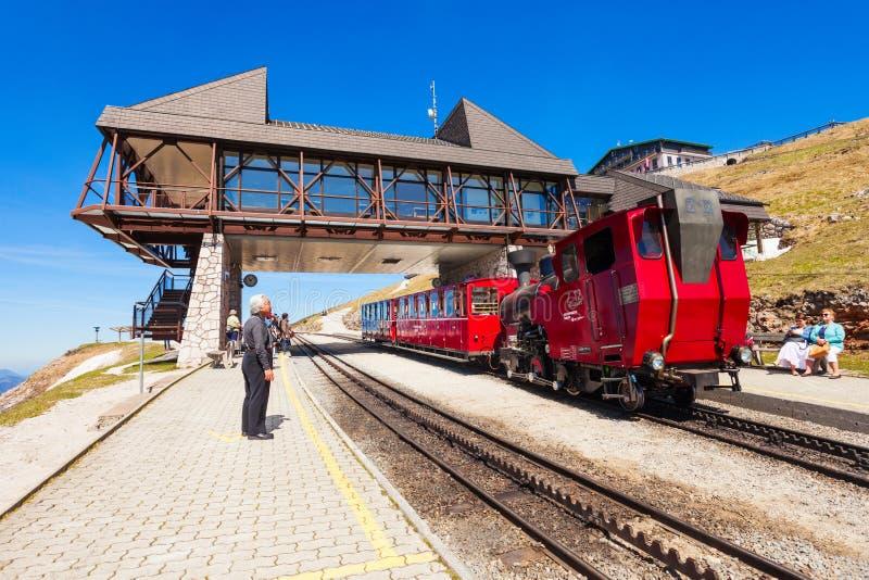 Schafberg铁路,圣沃尔夫冈 免版税图库摄影