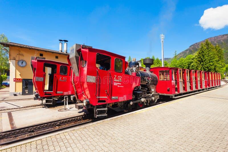Schafberg铁路,圣沃尔夫冈 库存图片