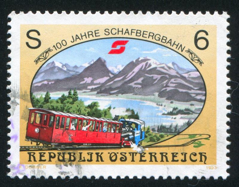 Schafberg铁路 库存照片