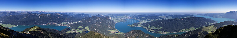 Schafberg -阿尔卑斯的观点 免版税库存照片