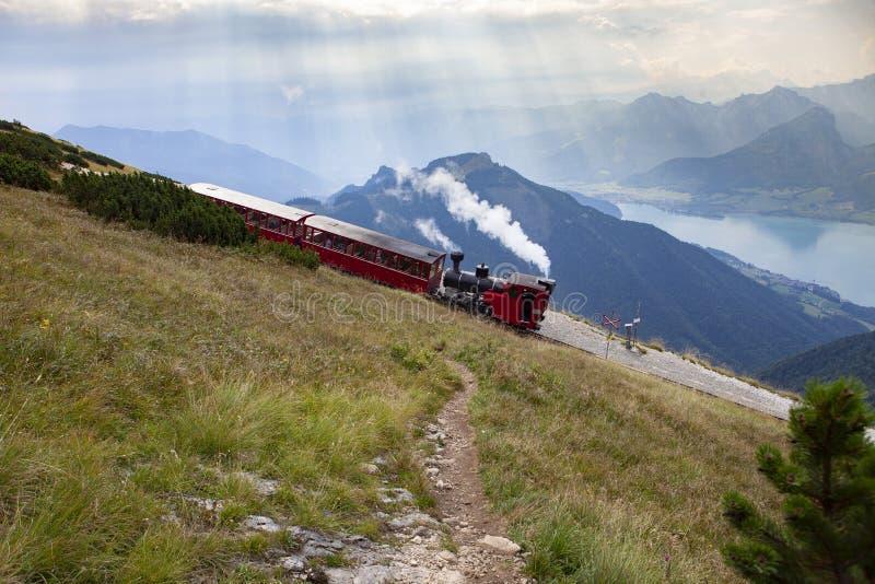 Schafbergbahn stock fotografie