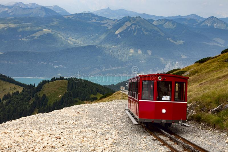 Schafbergbahn stock foto