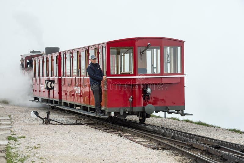 Schafbergbahn bil royaltyfri foto
