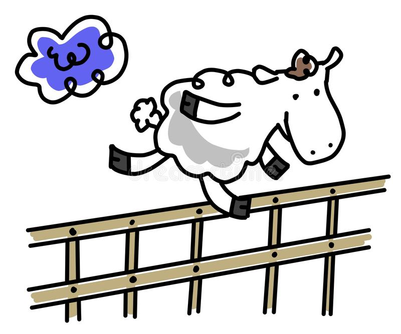Schafe über Zaun vektor abbildung