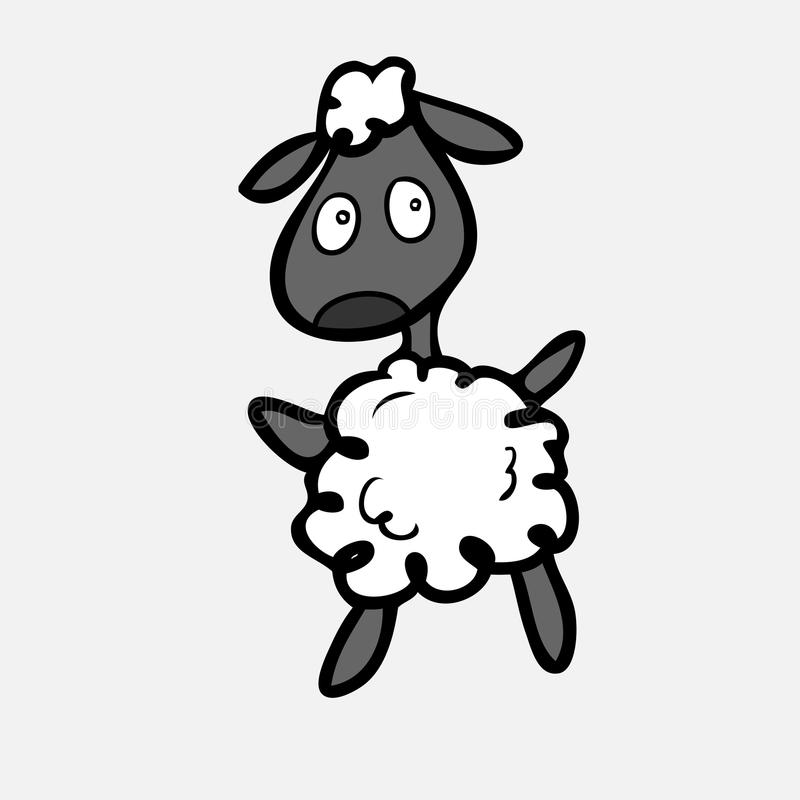 Schafe passen herein Art auf vektor abbildung