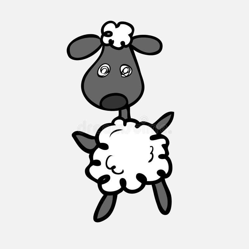 Schafe verwirren lizenzfreie abbildung