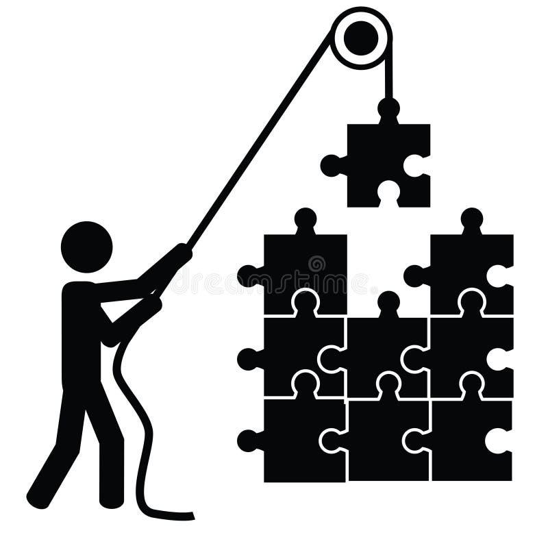 Schaffen Sie ein Puzzlespiel lizenzfreie abbildung