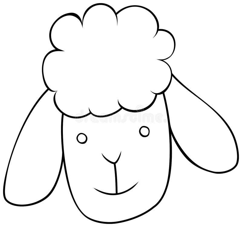 Schafhauptentwurfsikone Auch im corel abgehobenen Betrag vektor abbildung