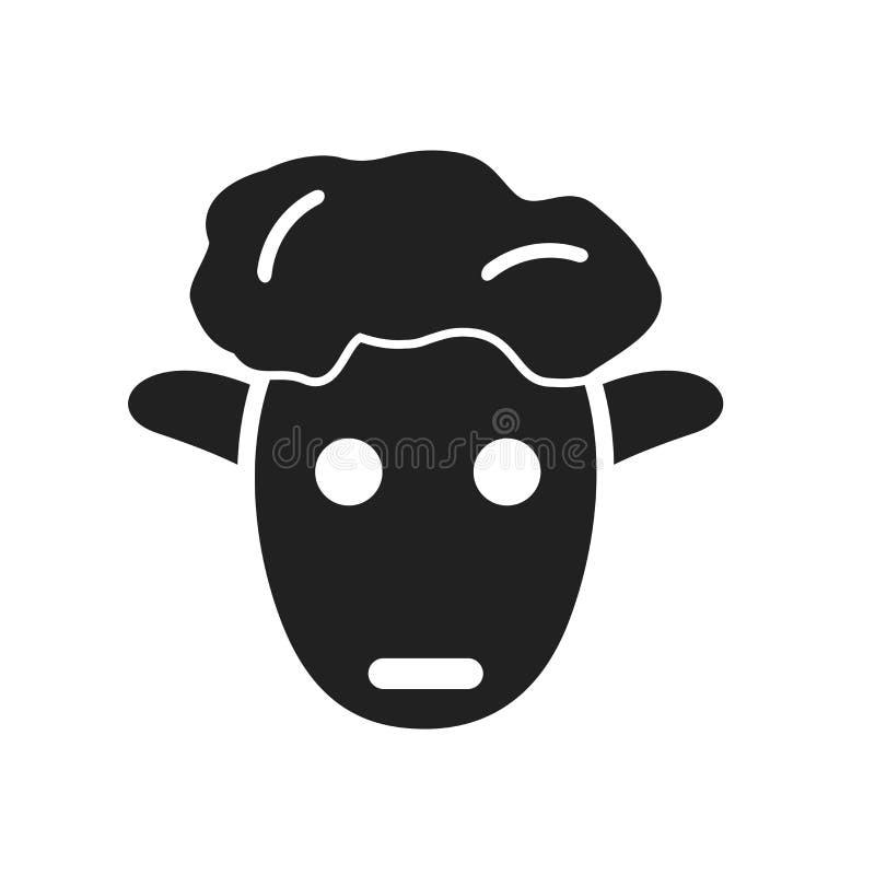 Schafikonenvektor lokalisiert auf weißem Hintergrund, Schafzeichen, weit vektor abbildung