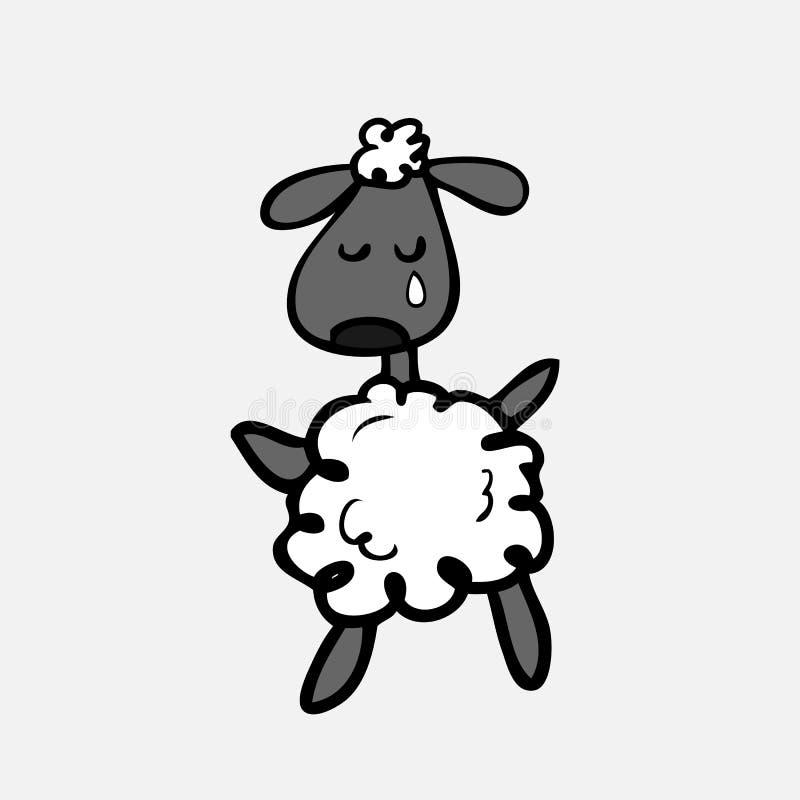 Schafschreien lizenzfreie abbildung