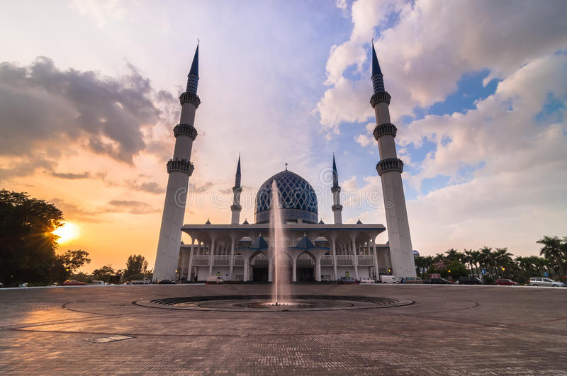 Schah Alam Mosque stockbild