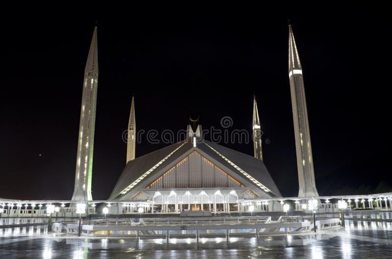Schah Faisal Mosque Islamabad royaltyfri bild