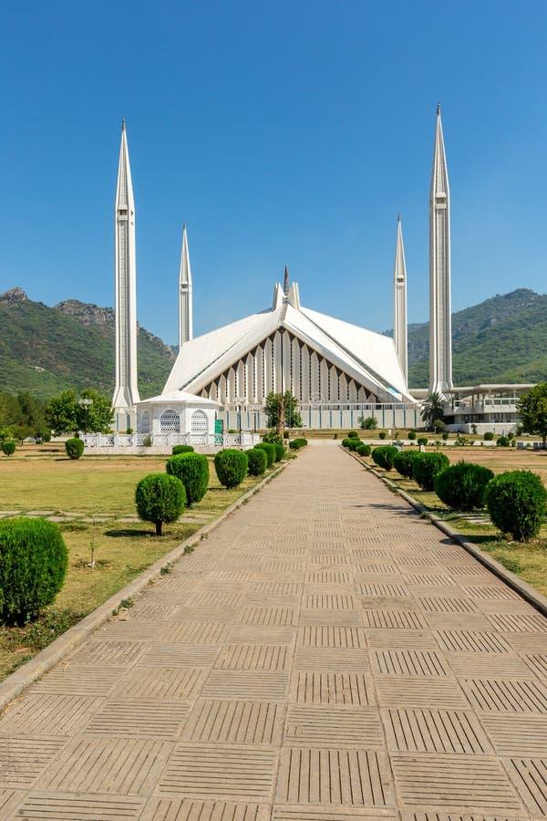 Schah Faisal Mosque in Islamabad, Pakistan stockfotos