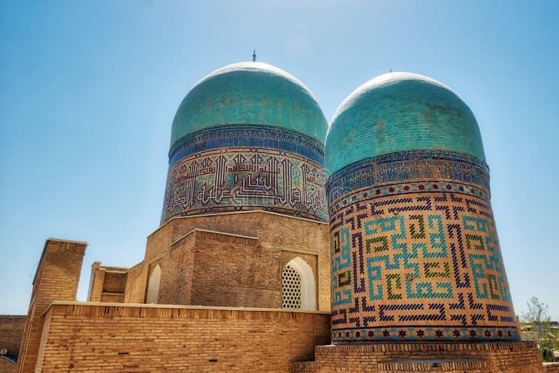Schah--ich-Zindaensemble auf der alten Seidenstraße in Samarkand, Uzbekis stockbild