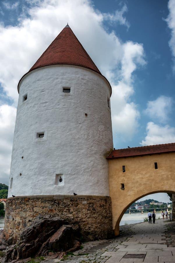 Schaiblingturm w Passau, Niemcy obrazy stock