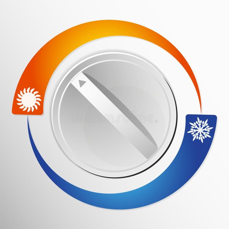 Schakel de airconditioner stock illustratie