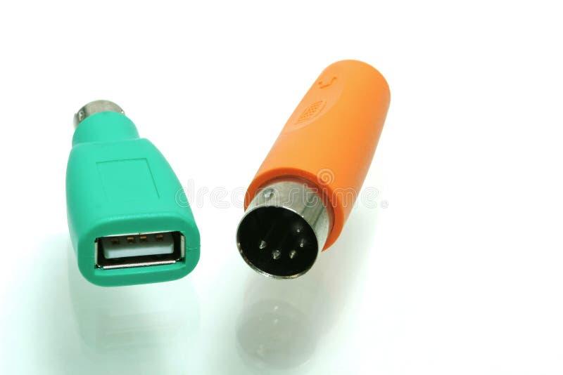 Schakelaar USB met PS2 adapter stock fotografie
