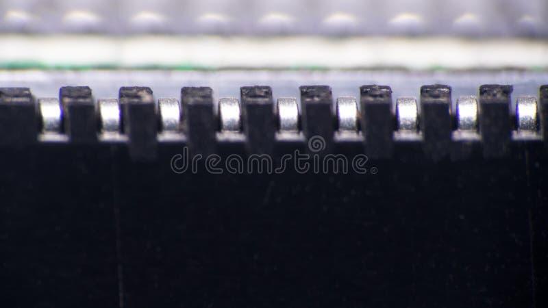 schakelaar van de printer ultramacro royalty-vrije stock foto's