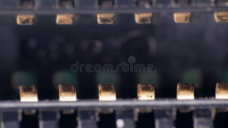 schakelaar van de printer ultramacro stock foto