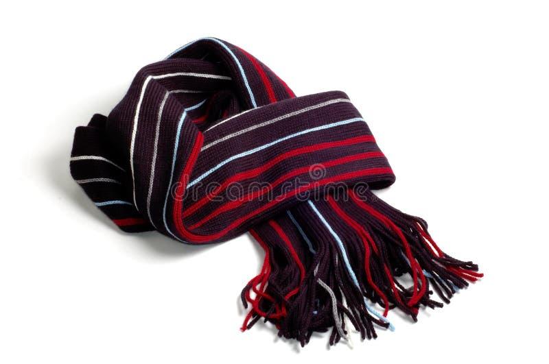 Schal auf Weiß lizenzfreies stockbild