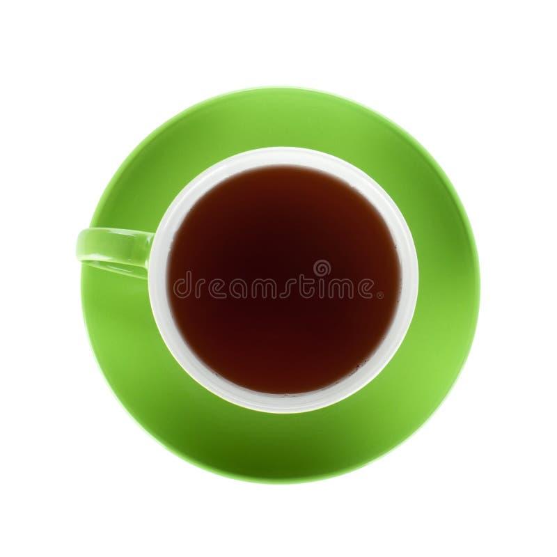 Schale des grünen Tees stockbild