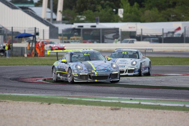 Schale GT3 Porsches 911 RENNWAGEN stockfotos