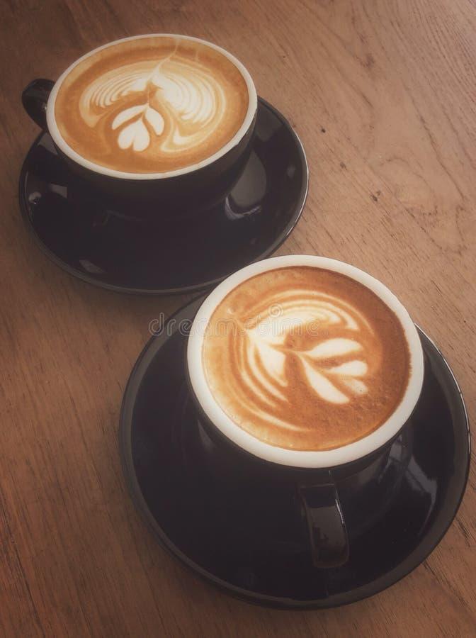 Schale Latte oder Cappuccino stockfoto