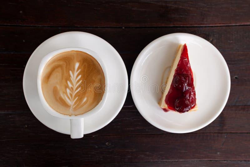 Schale Lattekaffee stockbilder