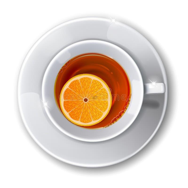 Schale mit Tee stock abbildung