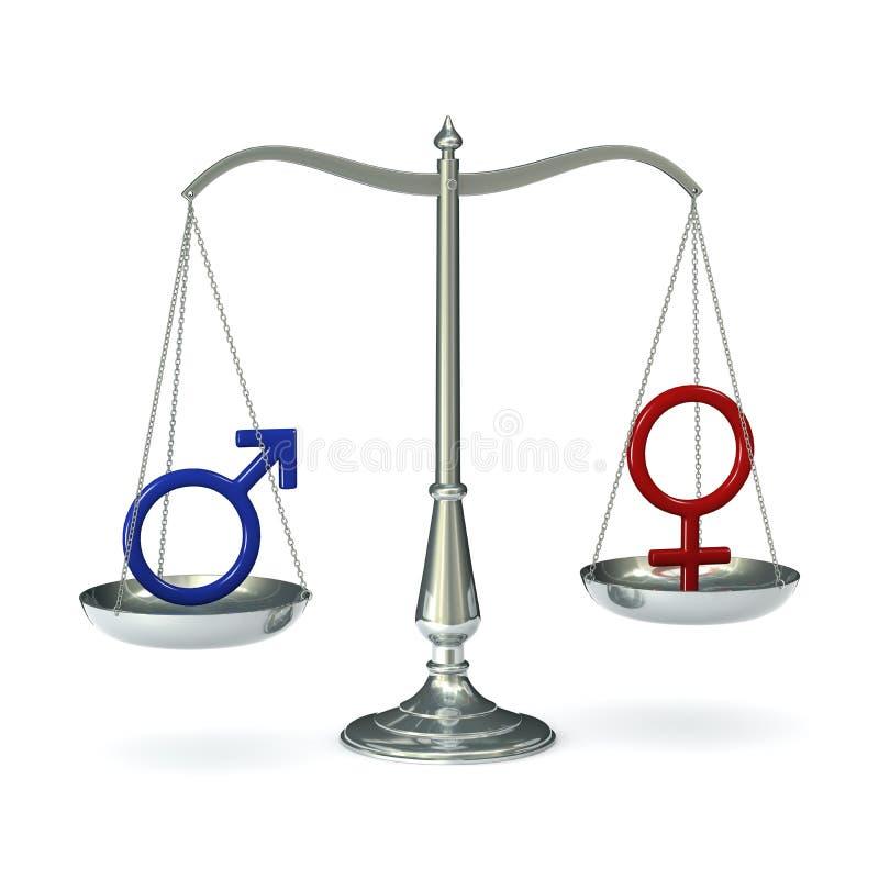 Schalen met geslachtssymbolen